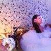 Romantický vaňový kúpeľ